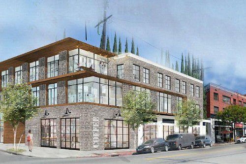 A New Look and Apartment Building for Echo Park Avenue